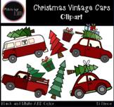 Christmas Vintage Cars Clipart / Christmas Clipart / Cars
