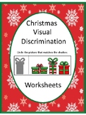 Christmas Visual Discrimination Worksheets Special Education Autism