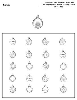 Christmas Visual Perception Activities - Occupational Therapy