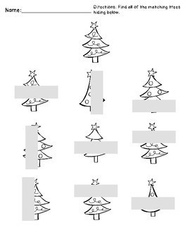 Christmas Visual Matching and Scanning
