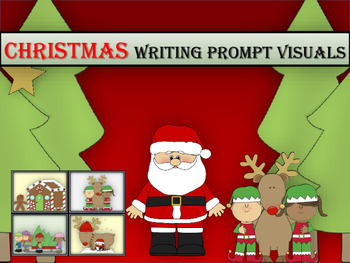 Christmas Visual Writing Prompt Cards-Bonus Paper!