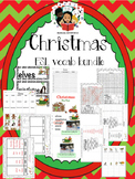 Christmas Vocab Bundle and Literacy Centers - ESL