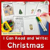 Christmas Emergent Readers | Open Dyslexic Font