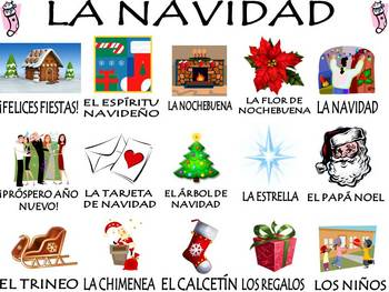Christmas Vocabulary Activities & Games Unit in Spanish (La Navidad)