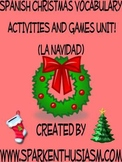 Christmas Vocabulary Activities & Games Unit in Spanish (L