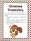 Christmas Vocabulary Activities and Centers