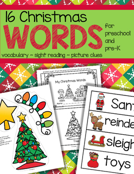 Christmas Vocabulary Activities for Preschool and Pre-K
