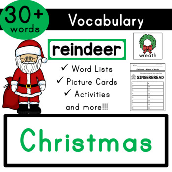 Christmas Vocabulary (Biblical & Secular) - Flash Cards