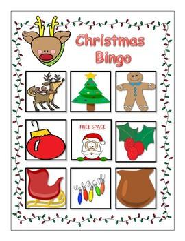Christmas Vocabulary Bingo