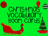 Christmas Vocabulary | Boom Cards | Data Sheet Included