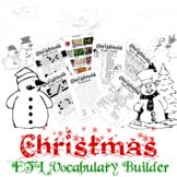 Christmas Vocabulary Builder - English + Chinese ESL / EFL