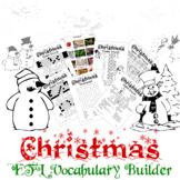 Christmas Vocabulary Builder - English + Chinese ESL / EFL