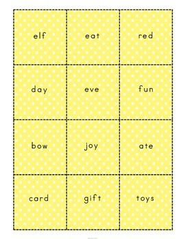 Christmas Vocabulary Building Game