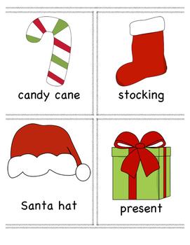 Christmas Vocabulary Cards!