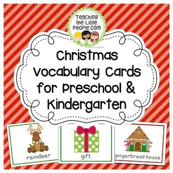 Christmas Vocabulary Cards for Preschool and Kindergarten
