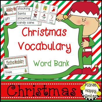 Christmas Vocabulary Cards ~ Word Bank