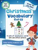 Christmas Vocabulary Cards - Great for ESL/ENL