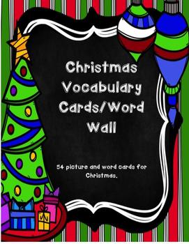 Christmas Vocabulary Cards/Word Wall