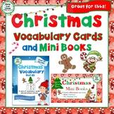Christmas Vocabulary Cards and Mini Books BUNDLE