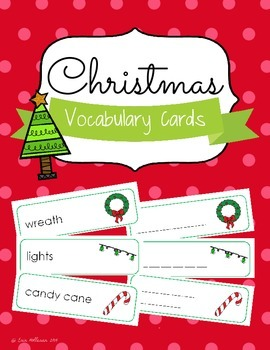 Christmas Vocabulary Cards and Spelling Practice
