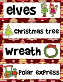 Christmas Vocabulary Cards for Word Wall