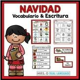 Navidad: Spanish Christmas Vocabulary Cards Writing Center Word Wall