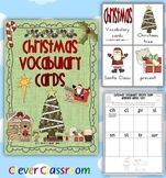 Christmas Vocabulary Cards and Record Sheets