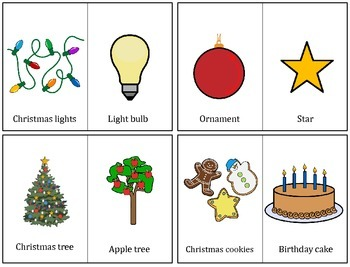 Christmas Vocabulary: Compare and Contrast