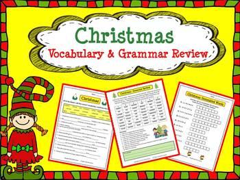 Christmas: Vocabulary & Grammar Review
