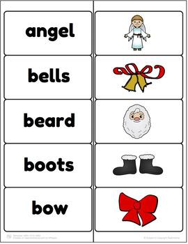 Christmas Vocabulary Match