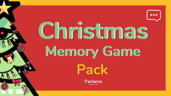Christmas Vocabulary Memory Game