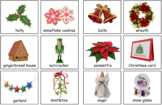 Christmas Vocabulary Montessori 3-part cards and Silhouette Match