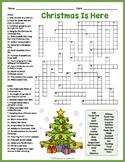 CHRISTMAS VOCABULARY Crossword Puzzle Worksheet Activity