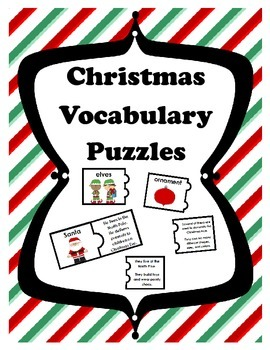Christmas Vocabulary Puzzles