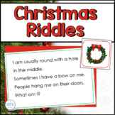 Christmas Vocabulary Riddles and Activities