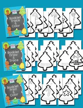 Christmas Vocabulary Shape Book