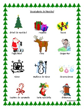 Christmas Spanish.Christmas Vocabulary Spanish