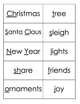 Christmas Vocabulary (Spanish and English)