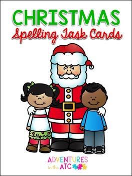 Christmas Vocabulary Spelling Task Cards