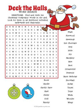 Christmas Vocabulary Word Search Puzzle Bundle