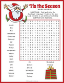 Christmas Word Search Pack - Christmas Vocabulary