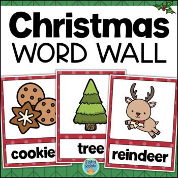 Christmas Word Wall Vocabulary Cards
