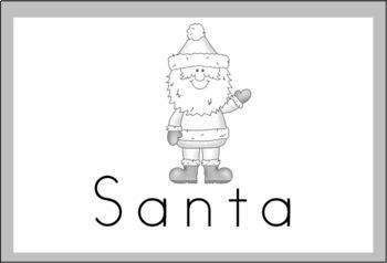 Christmas Vocabulary Word Wall Cards (set of 32) - BUNDLE