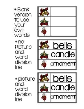 Christmas Vocabulary & Word Wall Words