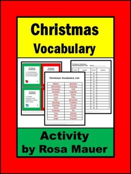 Christmas Vocabulary Task Cards