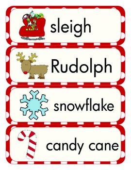 Christmas Vocabulary Word Work - PreK to 2nd Grade Printables!