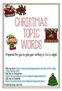 Christmas Vocabulary Words