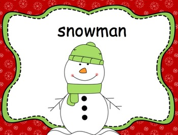 Christmas Vocabulary Words PowerPoint