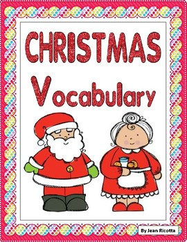 Christmas Vocabulary - Writing Workshop Resource