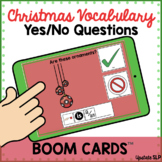 Christmas Vocabulary Yes/No Questions with Sentence Strip